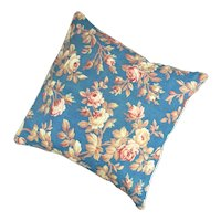 Fabric Cushion Floral Print Vintage 20th Century.
