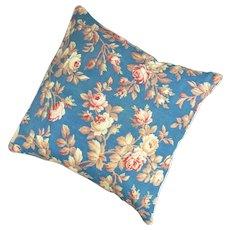 Fabric Cushion Floral Print Vintage 20th Century.