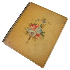 Hand Decorated Writing Blotter Antique c1880