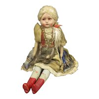 Continental Traditional Dressed Doll Antique c1920