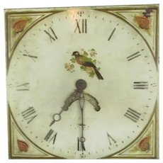 Painted Clock Face and Hands Antique 19th Century