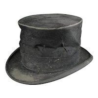 Dickensian Style French Top Hat Antique c1910
