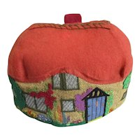 Hand Made Felt Cottage Tea Cosy Vintage c1930