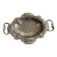 French Spelter Bowl Dish Or Nut Dish Vintage Art deco c1930