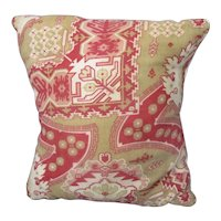 French Fabric Cushion Mid Century c1950