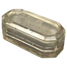 LT Piver Paris Glass Trinket Box Art Deco Vintage c1930