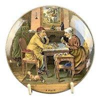 Ceramic Pot Lid Antique Victorian c1870