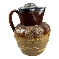 Ceramic Salt Glazed Large Harvest Jug Vintage Art Deco c1950