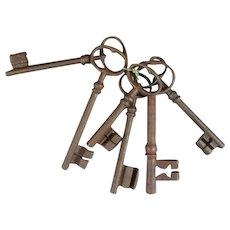 Group of Larger Door Keys Antique 19th Century