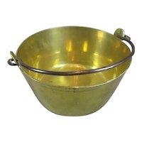 Heavy Brass Jam Pan Antique 19th Century