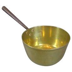 Large Brass Pan Antique 19th Century