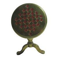 Miniature Brass Tilt Top Table Candle Reflector Antique Victorian c1870