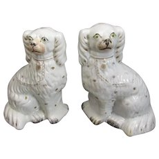 Pair Of Staffordshire Dogs Antique Victorian 19th Century