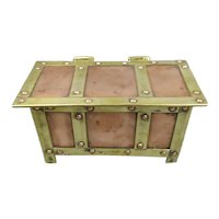 Copper And Brass Casket Arts And Crafts Antique c1900