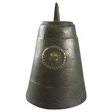 Cast Bronze Cow Bell Antique Georgian c1830