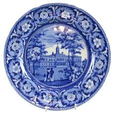Blue American Transferwear Porcelain  Maker J. W. Ridgway Georgian c.1820