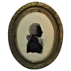 Framed Silhouette By Isabella Beetham Antique C. 1790