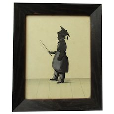 Antique Framed Silhouette of a Young English Boy c1830.