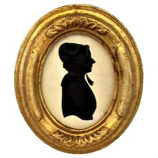 Framed Silhouette Antique Victorian c1840.