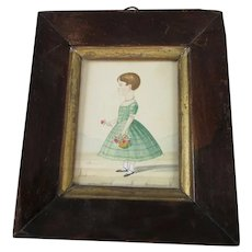 Miniature Watercolour Antoinette Alessio Antique Victorian c1830