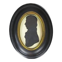 Framed Silhouette of a Gent Antique c1820