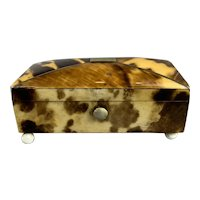 Miniature Faux Tortoiseshell Light Colour Box Antique Georgian c1830