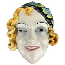 Wall Mounted China Mask Vintage Art Deco c1930 By Goebel