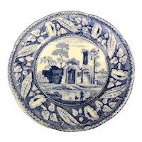 Miniature Blue White Plate De Gaunt Victorian Antique c1900