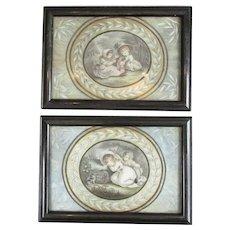 Pair Small Framed Watercolour Pictures William M. Craig (1788-1827) Antique
