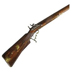 German Full Stocked Percussion Seven Groove Rifle Antique c1830