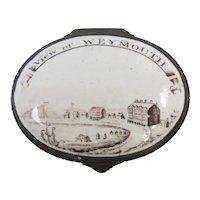 Enamel Patch Box Weymouth Antique Georgian c1800