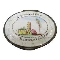 Enamel Patch Box Kirklevington Antique Georgian c1800