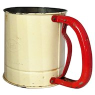 English TALA Flour Sifter And Measure Vintage 1950's.