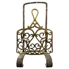 Brass Grate Trivet Or Kettle Holder Antique Victorian c1880