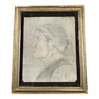 Original Pencil Sketch By D. S. Shepherd in Gwestfa Antique c1912