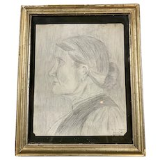Original Pencil Sketch By D. S. Shepherd in Gwestfa Antique c1912