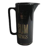 Slim Kings Water Jug Vintage c1980