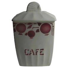 French Cafe Coffee Jar Vintage c1970