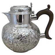 Sterling Silver Water Jug Antique Victorian London 1897.