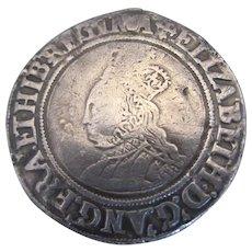 Elizabeth I Shilling Coin, Antique dated 1560-1561.