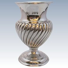 Sterling Silver Vase London Antique 1894