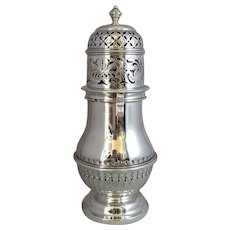 English Silver Sugar Caster Antique c.1916/17.