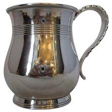 English Sterling Silver Christening Mug Antique c.1900.