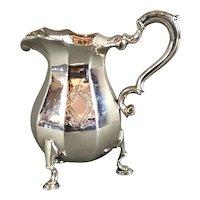 English Britannia Silver Cream Jug Vintage 1928 Art Deco by Walter H. Wilson