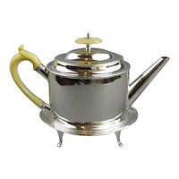 Sterling Silver Teapot With Stand Antique Georgian c1786 by Hester Bateman