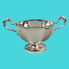Magnificent Mappin & Webb Sterling Silver Two Handled Bowl Sheffield Vintage Art Deco c1938