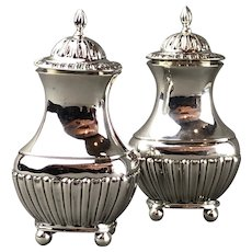 James Deakin & Sons Pair of Pepperettes or Shakers Antique Victorian Chester 1899