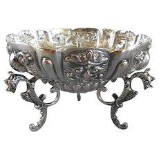 Sterling Silver Bon Bon Dish Antique Victorian London 1890