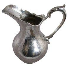 Irish Sterling Silver Water Jug Antique Victorian Dublin 1865