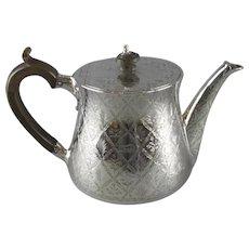 Sterling Silver Teapot Antique Victorian London 1859